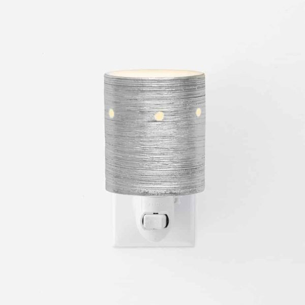 Etched Core – Silver Scentsy Plugin Mini Warmer