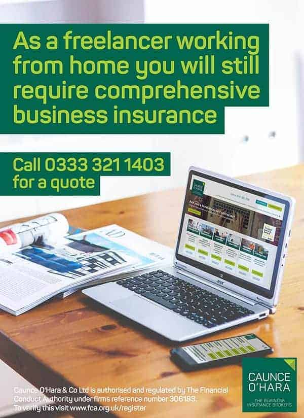 desk home office laptop freelancer insurance