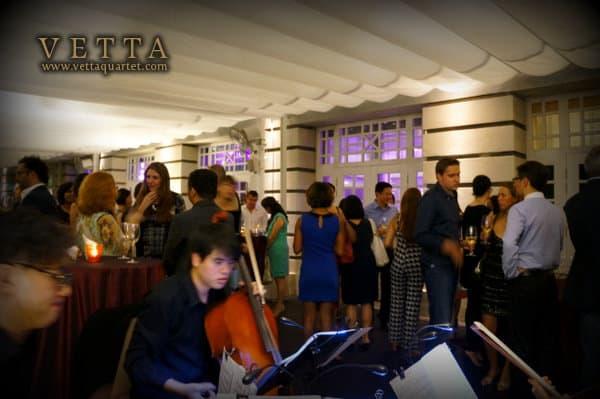 String Quartet at Gattopardo Ristorante, Fort Canning Singapore