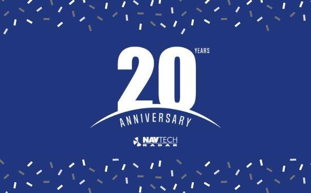 Logo for Navtech Radar 20th Anniversary