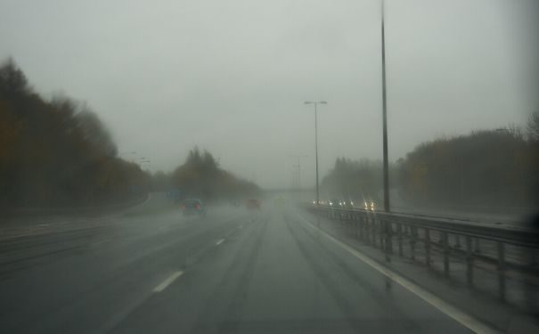 Image of poor weather highway stopped vehicle detection