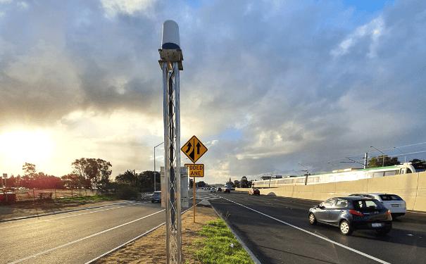 CTS Radar installed on Kwinana Freeway in Perth