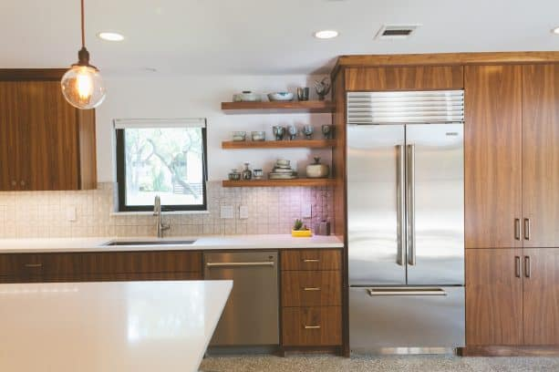 after remodel raised ranch kitchen with beautiful sygma quasar tiles