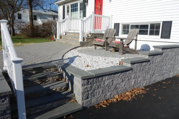pavers, bluestone, and stone veneer covering are usually parts of the same gang