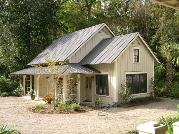 patrician bronze metal roof and a wood siding with cabot bleaching oil paint color combination