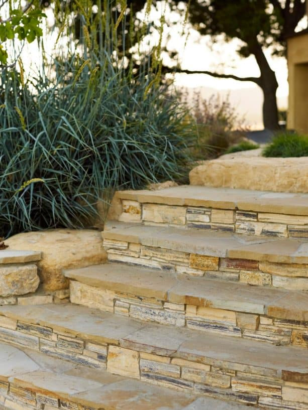 more natural looking stone veneer covering is better for outdoor areas