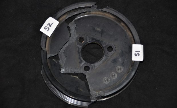 Failure of Automotive Pulley Caused by Defective Part Design