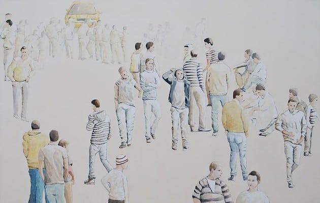 Jawad Al Malhi, Measures of Uncertainty XII, 2013, acrylic on canvas, 150 x 250 cm