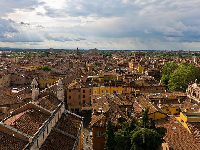 Il centro storico e la ztl di Modena