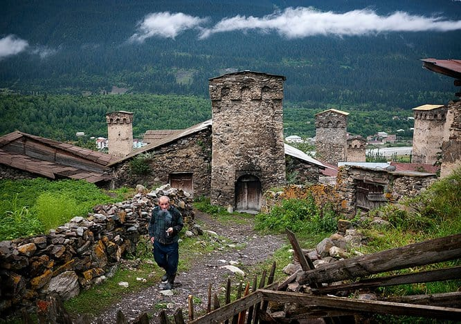 Rural life in Mestia