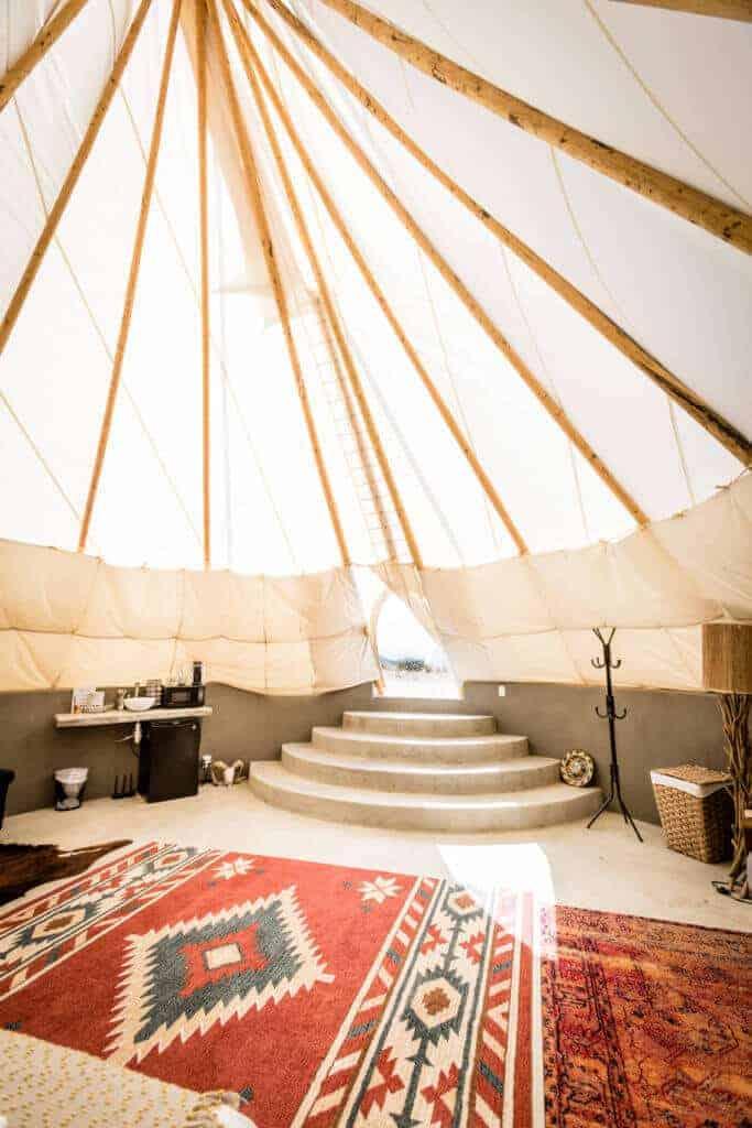 Interior of Tipi.