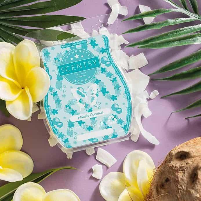 Mahalo coconut scentsy wax