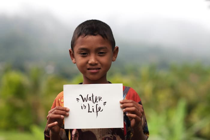 Social Impakt providing clean water in Indonesia.