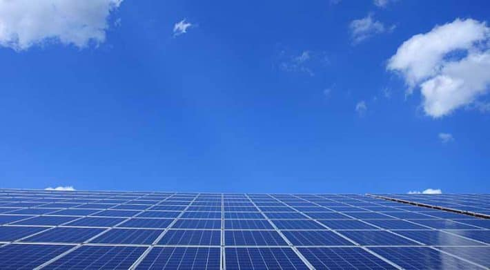 Solar Energy Panels Blue Sky