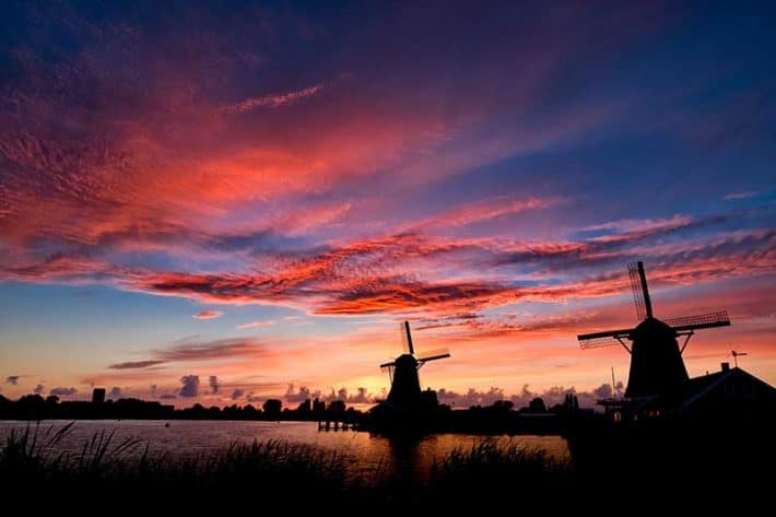 Old Wind Mills at SunSet