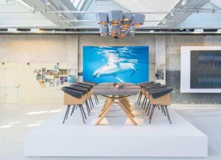 Plastic Whale furniture in situ