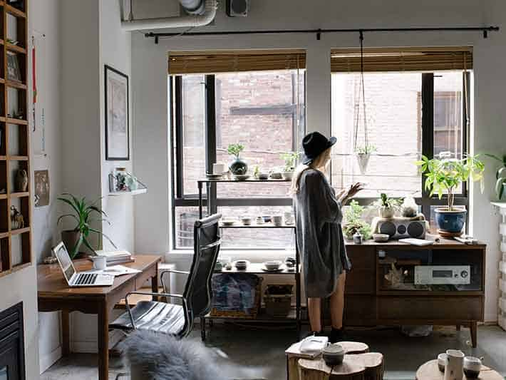 Work from home to cut air pollution