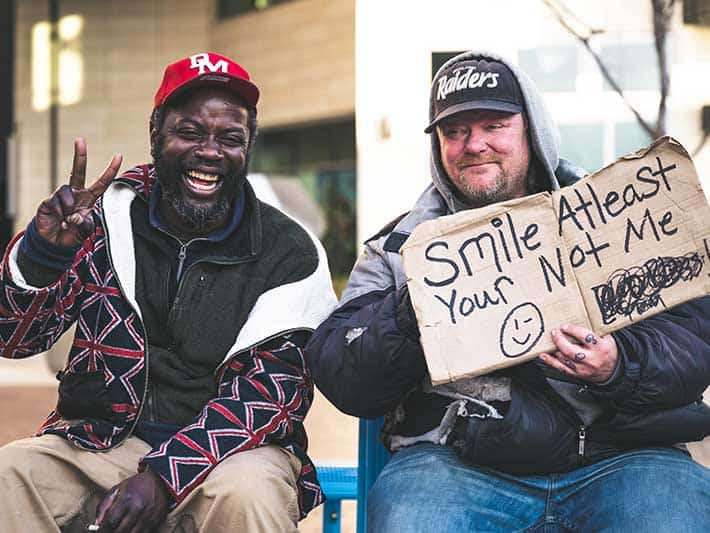 Volunteer to help support local homeless people
