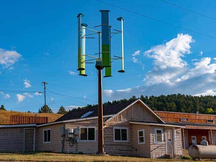 Darrieus vertical-axis wind turbines