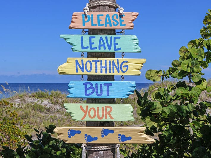 Please leave nothing but your footprints