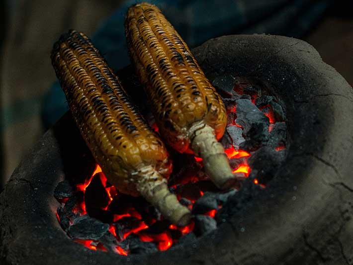 Corn Cooking on Coal