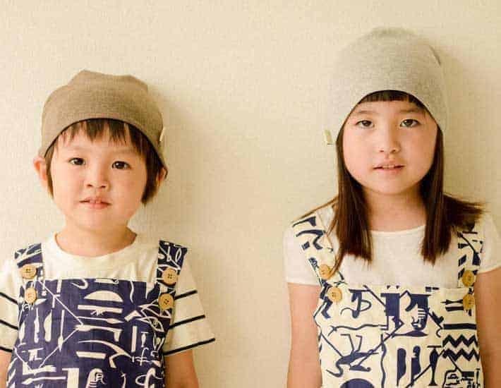 Organic cotton kids beanie