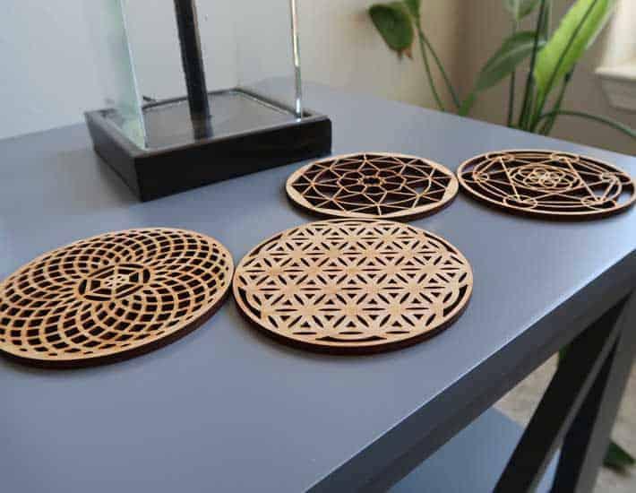 Set Geometric Coasters