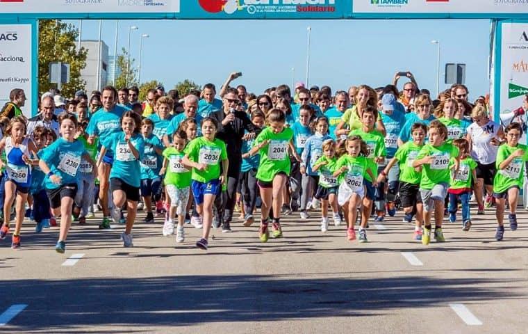 Salida de la 6 edición de la Carrera Popular Madrid También Solidario
