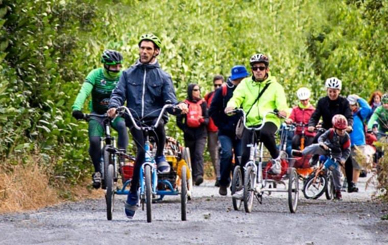 Camino de Santiago 2021 en bicicletas adaptadas con la Fundación También