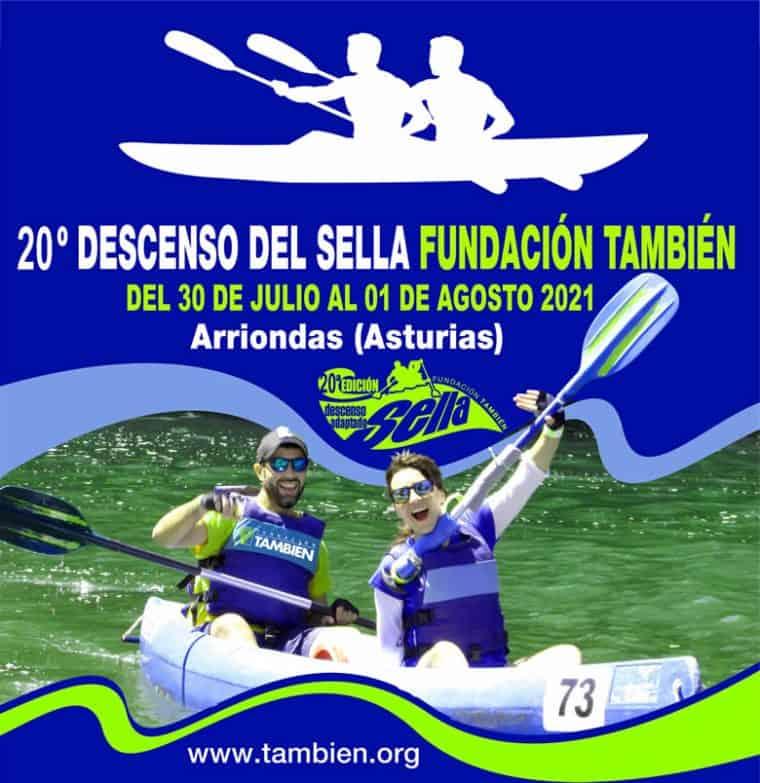 Fundación También acude por 20º año consecutivo al Descenso del Sella Adaptado, del 30 de julio al 1 de agosto, con el apoyo de Fundación Adecco y de la Comunidad de Madrid