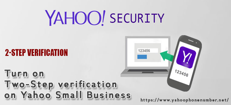 Turn on Two-Step verification on Yahoo Small Business