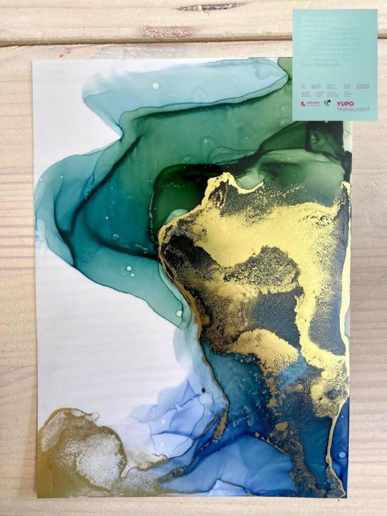 Mein Alcohol Ink Bild auf Legion Yupo Translucent