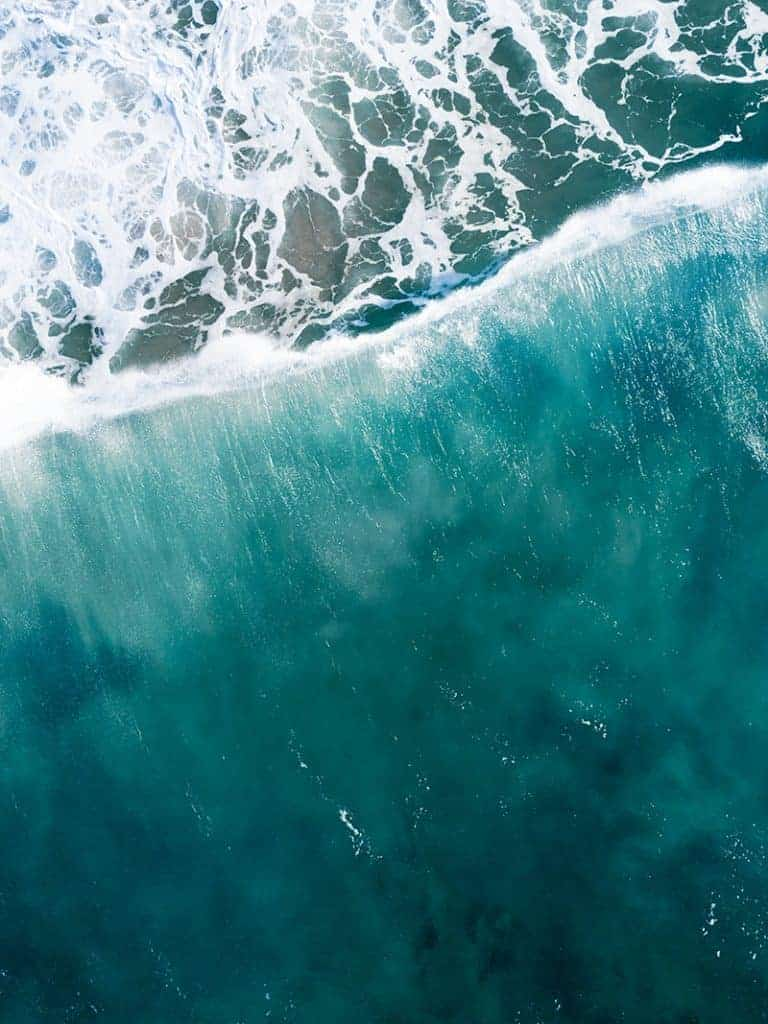 Aerial Photo of Waves Drone Photography