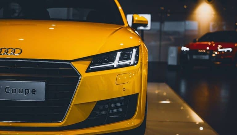 yellow and red car