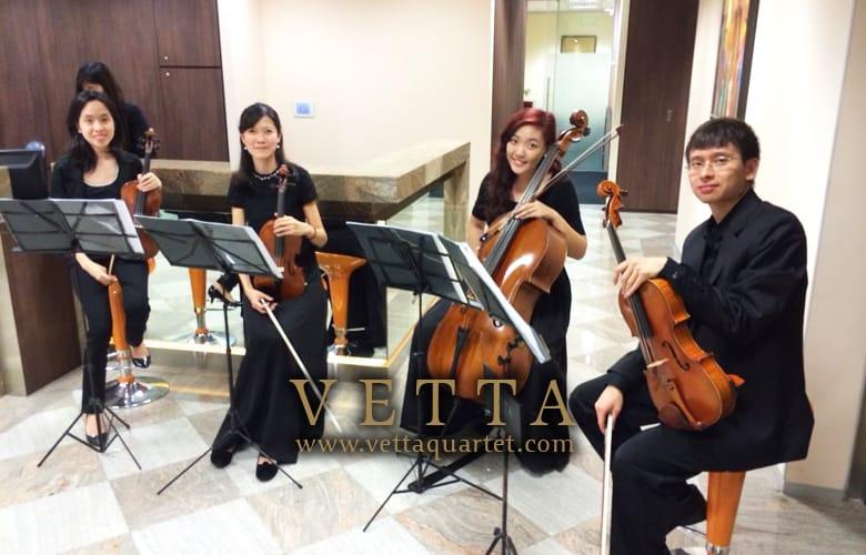 String Quartet Performance - Servcorp Singapore - Music at Marina Bay Financial Centre - Opening Celebration