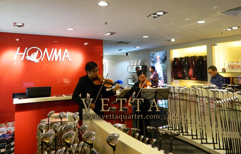 Violin Duo for Opening Launch at  Wheelock Place