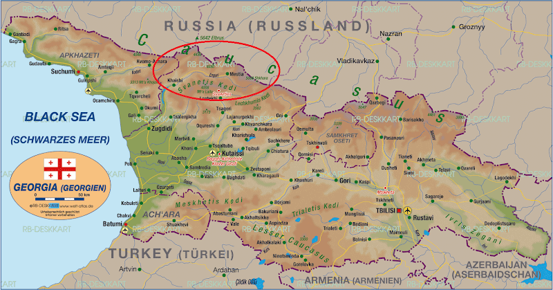 Mapa de Georgia