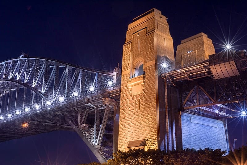 Photo of Sydney Harbour Bridge at night