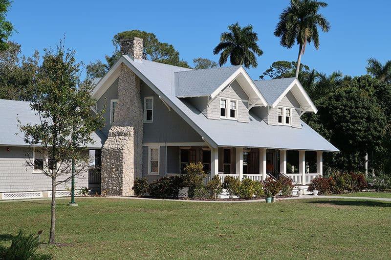 exterior composition with garden