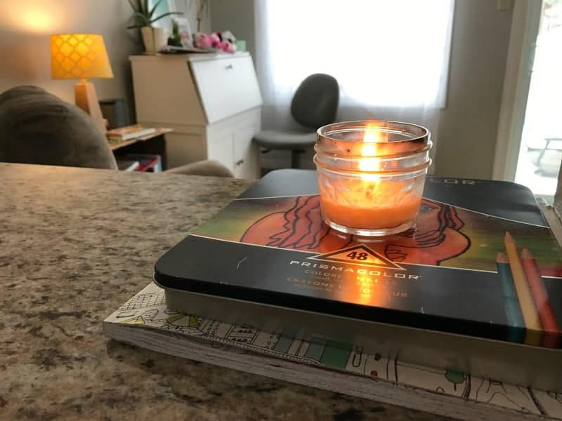 HSP at home with candles