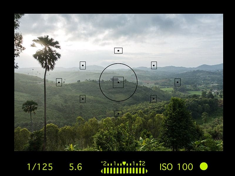 viewfinder camera settings