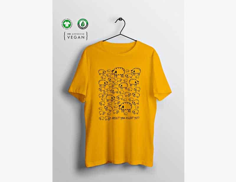 Bare Turtle Yellow Ethical T Sheep Print