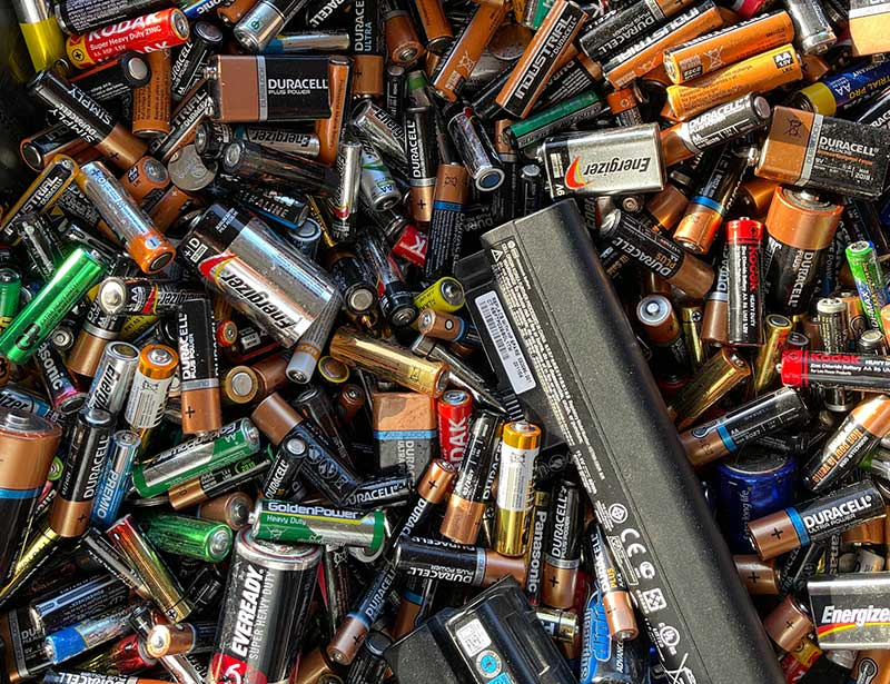 Batteries can't be recycled except through specialist facilities