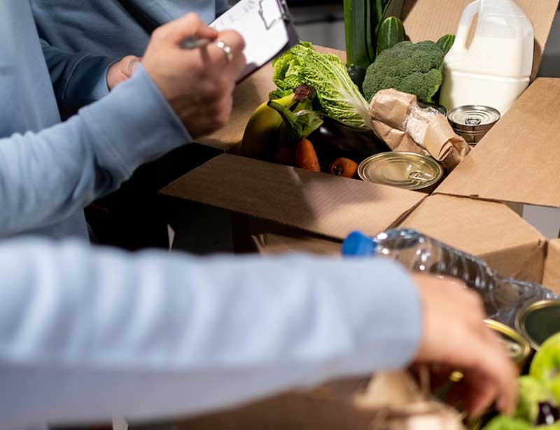 Food banks are one of the main areas people volunteer