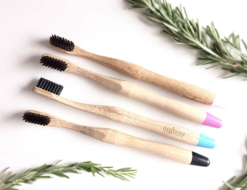 Natboo Charcoal Infused Bamboo Toothbrush