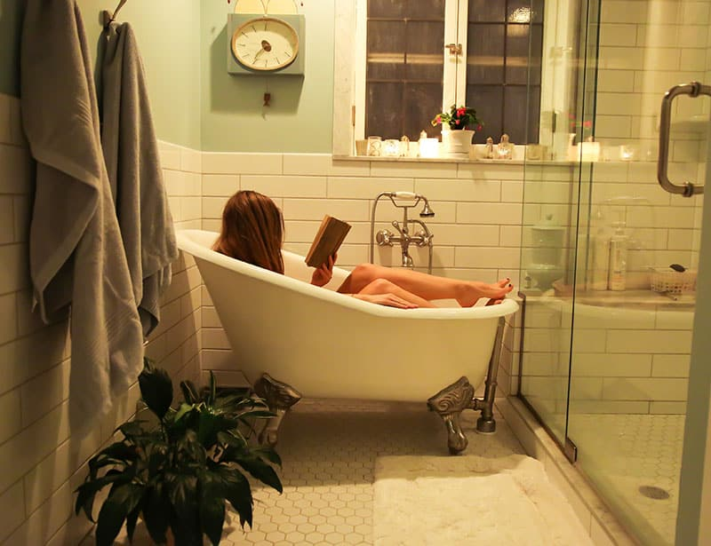 Immerse yourself in a bath for self care