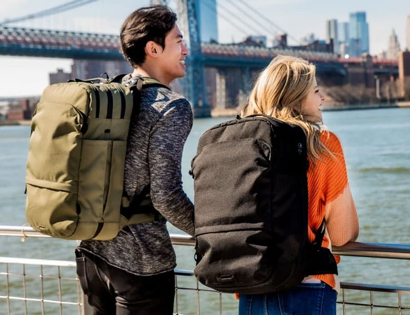 Pakt backpack made from recycled plastic
