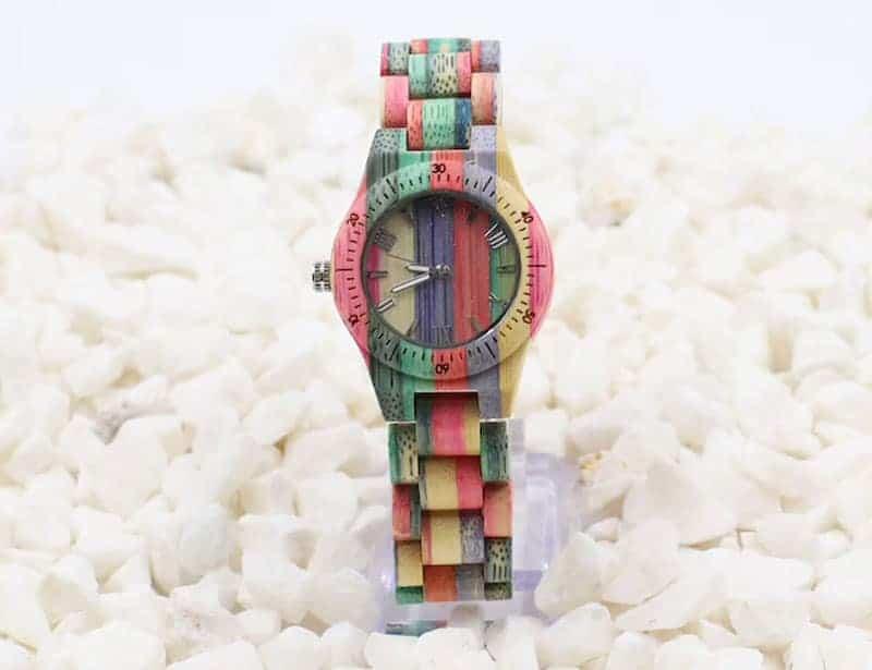 Terrain unisex bamboo watch