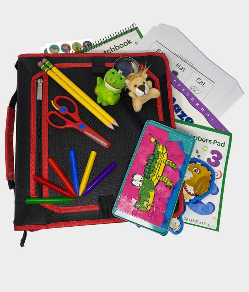 KinderIQ On-The-Go Learning Pack Contents