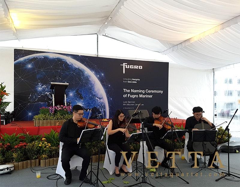 String Quartet performed at Loyang Offshore Supply Base